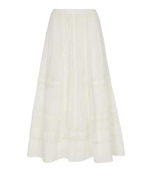 폴로 랄프로렌 스커트 Polo Ralph Lauren High-rise cotton midi skirt