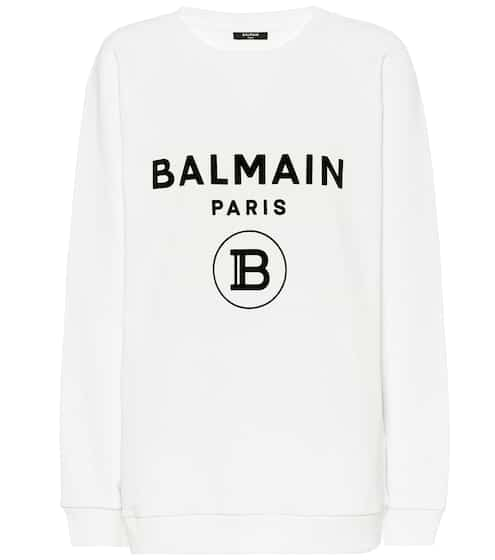 발망 Balmain Logo cotton sweatshirt