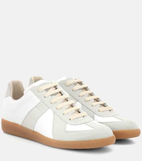메종 마르지엘라 '독일군' 레플리카 스니커즈 여성용 - 화이트 Maison Margiela Replica sneakers, white leather with gray suede