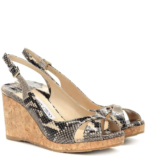 5ccf734e5b Jimmy Choo Amely 80 Platform Wedge Sandals