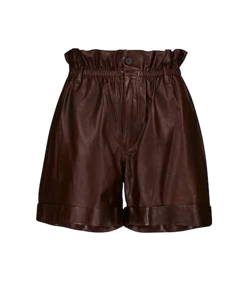 폴로 랄프로렌 Polo Ralph Lauren Leather paperbag shorts