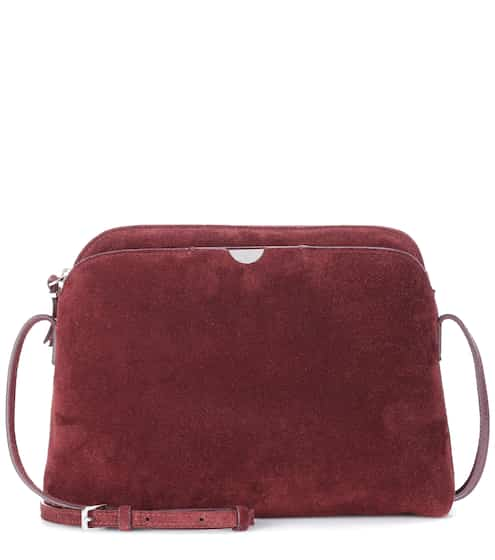 The Row Tasche Multi Pouch aus Veloursleder