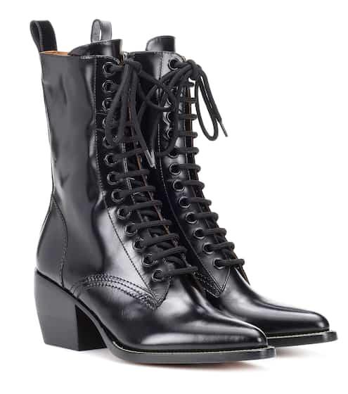 끌로에 Chloe Lace-up leather boots
