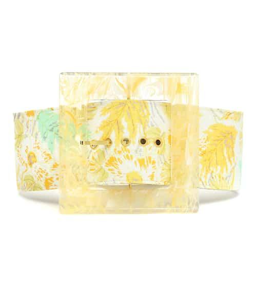 Cult Gaia Simone linen and acrylic belt