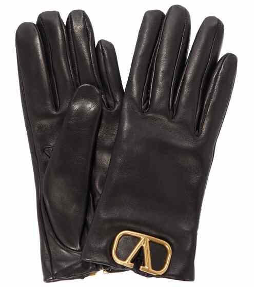 발렌티노 Valentino VLOGO leather gloves
