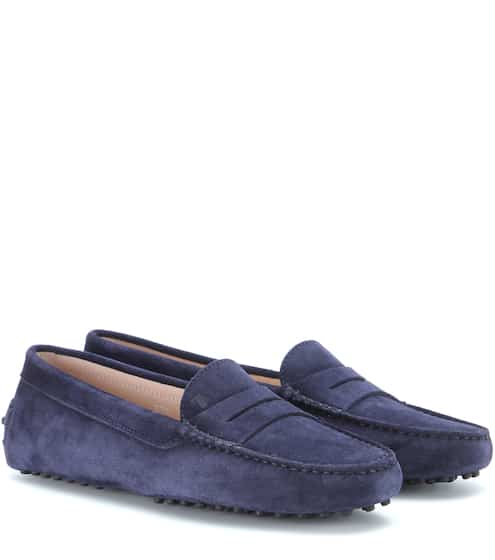 Double T Suede Slippers - 36.5 / purple rose Tod's SGbjBc