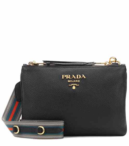Daino Small Leather Crossbody Bag Prada