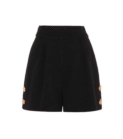 Dolce & Gabbana Kristallverzierte Jacquard-Shorts