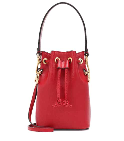 f01767a03b89 Mon Trésor Mini leather bucket bag
