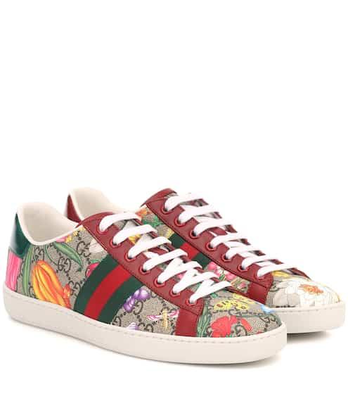 구찌 Gucci Ace GG Supreme Flora sneakers