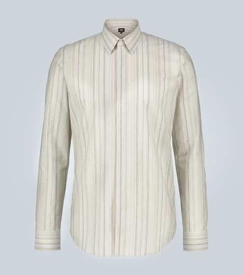 펜디 셔츠 Fendi Striped cotton shirt