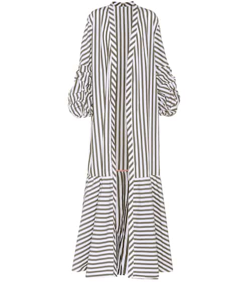 Johanna Ortiz Mompox striped cotton coat