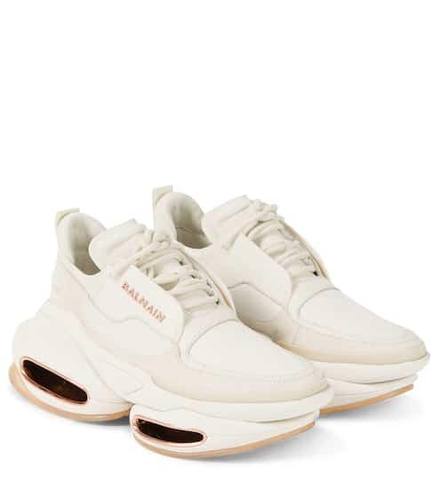 발망 비볼드 스니커즈 - 화이트 Balmain BBold leather sneakers
