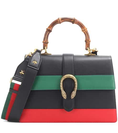 Gucci Schultertasche Dionysus Stripe Large aus Leder