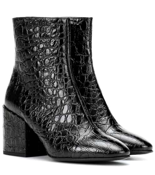 1a726f791f9a Dries Van Noten Croc-Embossed Leather Ankle Boots from mytheresa ...