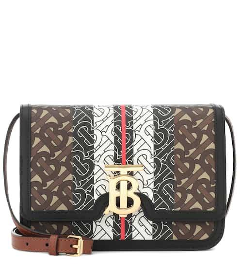 버버리 Burberry Monogram Stripe TB leather shoulder bag