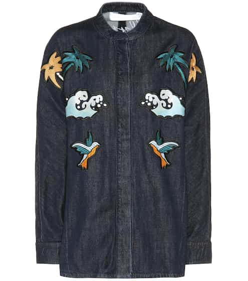 Victoria Victoria Beckham Embroidery and appliqué denim jacket