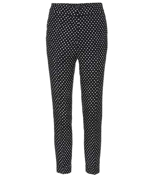 Etro Polka-dotted high-rise trousers