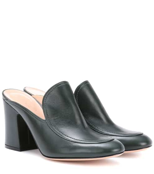 Gianvito Rossi Marcel leather mules uLFyEb9a