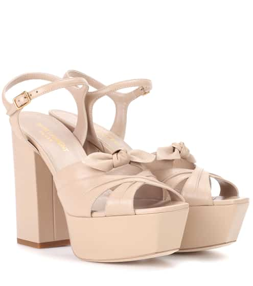 Saint Laurent Plateausandalen Candy 80 aus Leder