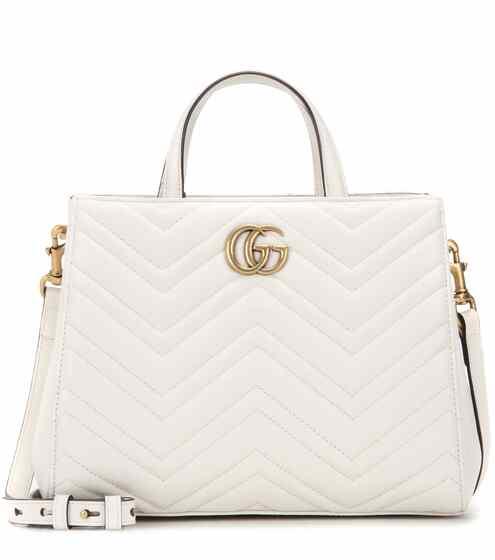 Gucci Schultertasche GG Marmont Small aus Matelassé-Leder
