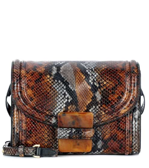 Dries Van Noten Tasche aus Leder in Reptil-Optik