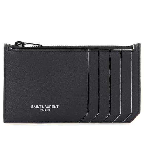 Saint Laurent Karten-Etui Classic Paris aus Leder