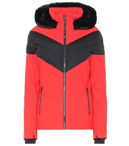 퓨잡앤 에코퍼 후드 스키 자켓 - 레드 Fusalp Anne faux fur-trimmed ski jacket