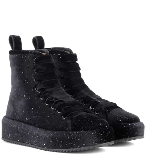 Marco De Vincenzo High-Top-Sneakers aus Samt