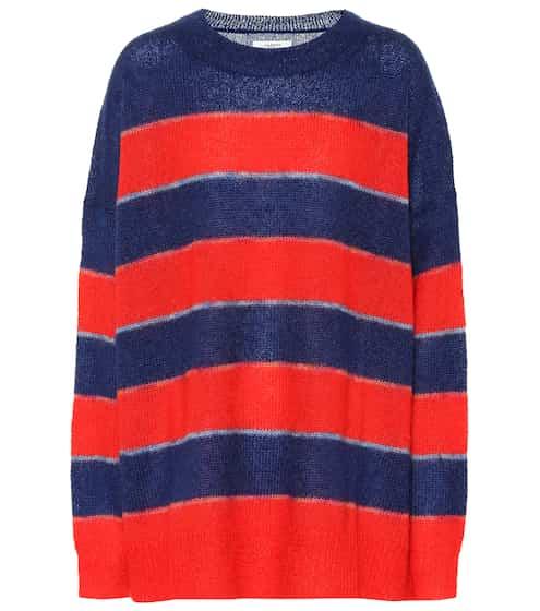 이자벨 마랑 Isabel Marant, EEtoile Reece striped mohair-blend sweater