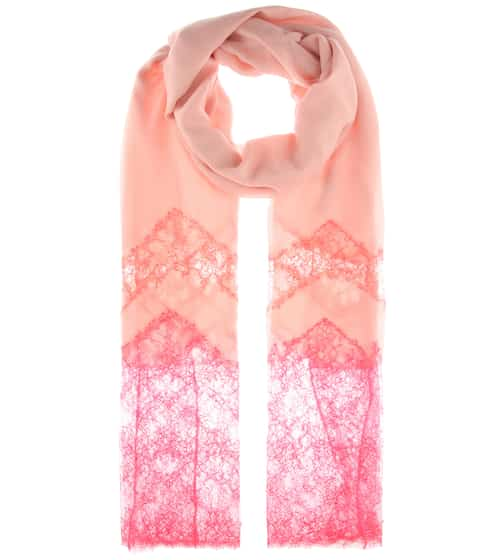 logo embroidered scarf - Pink & Purple Valentino
