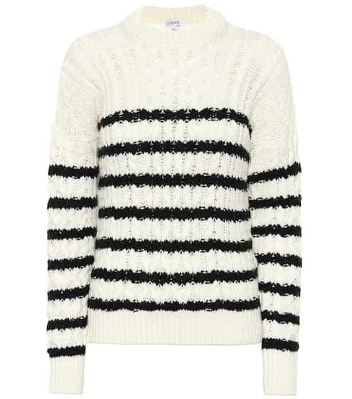 로에베 LOEWE Striped wool sweater