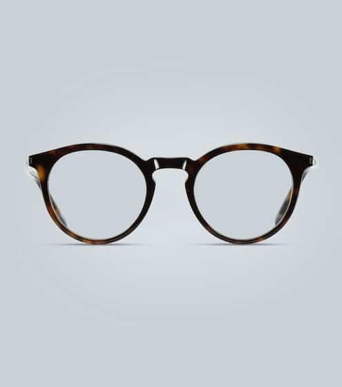 생 로랑 Saint Laurent Round acetate tortoiseshell glasses