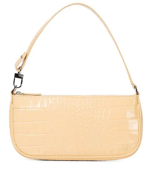 바이파 레이첼백 - 크록/위트 By Far Rachel croc-effect leather shoulder bag
