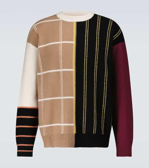 로에베 맨 패치워크 캐시미어 스웨터 LOEWE Patchwork striped cashmere sweater