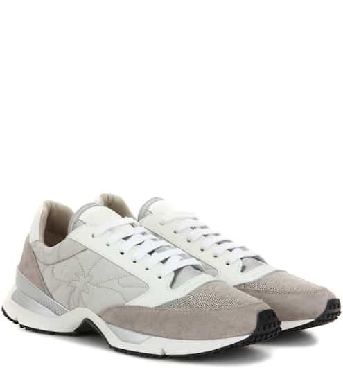 Brunello Cucinelli Sneakers Paper Effect aus Glatt- und Veloursleder