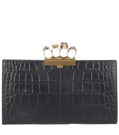 Alexander McQueen Verzierte Clutch aus Leder