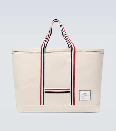 탐 브라운 Thom Browne Cotton canvas tote bag