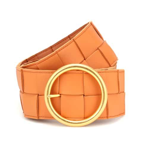 보테가 베네타 가죽 벨트 Bottega Veneta Intrecciato leather belt