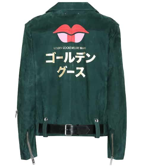 Golden Goose Deluxe Brand Jacke aus Veloursleder