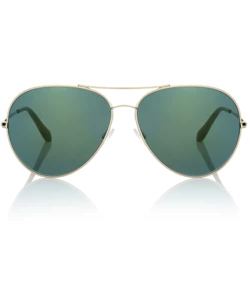 Gemusterte Luxus Sonnenbrille von Prada Kunststoff Logo an den Schläfen