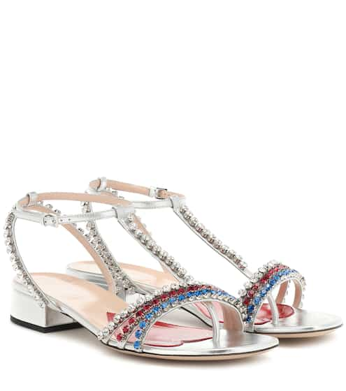 876dfcfcfd2 Crystal embellished sandals