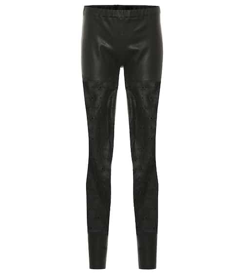 c6e68cbc1f High-rise skinny leather pants   Haider Ackermann