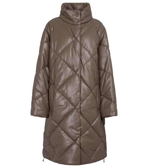 스탠드 스튜디오 애니사 에코 가죽 퀼팅 코트 Stand Studio Anissa quilted faux leather coat
