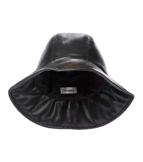 나누슈카 카메론 버킷햇, 에코 가죽 - 블랙 Nanushka Cameron faux leather bucket hat