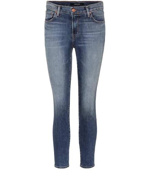 J Brand Skinny Jeans Mid-Rise Capri aus Stretchdenim