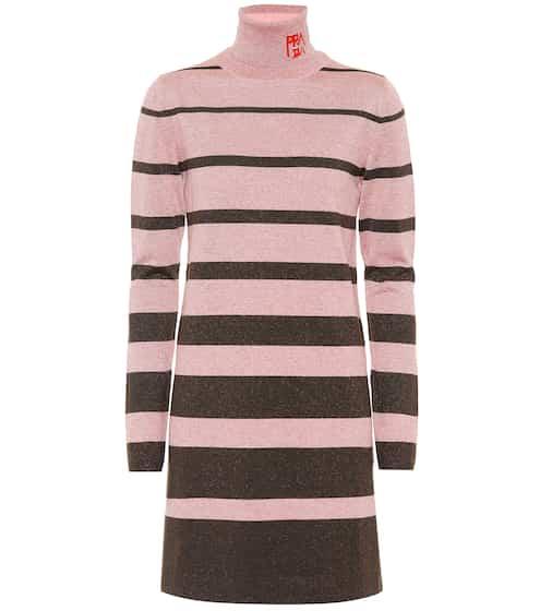 6733dd696bcf Metallic wool-blend sweater dress