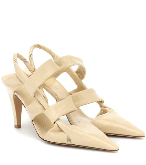 BV Point leather slingback pumps by Bottega Veneta, available on mytheresa.com for $1150 Kylie Jenner Shoes SIMILAR PRODUCT
