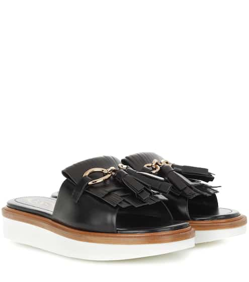 Tod's Leather Platform Sandals cheap price wholesale DfrKXb3R3g