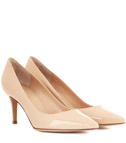 Gianvito Rossi Woman Patent-leather Ballet Flats Pastel Pink Size 35 Gianvito Rossi aHBgB